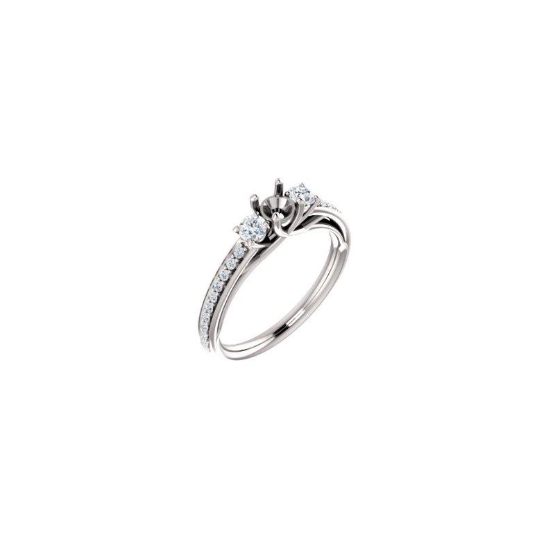 White 14 Karat Ring With 22=2.06Tw Round Diamonds