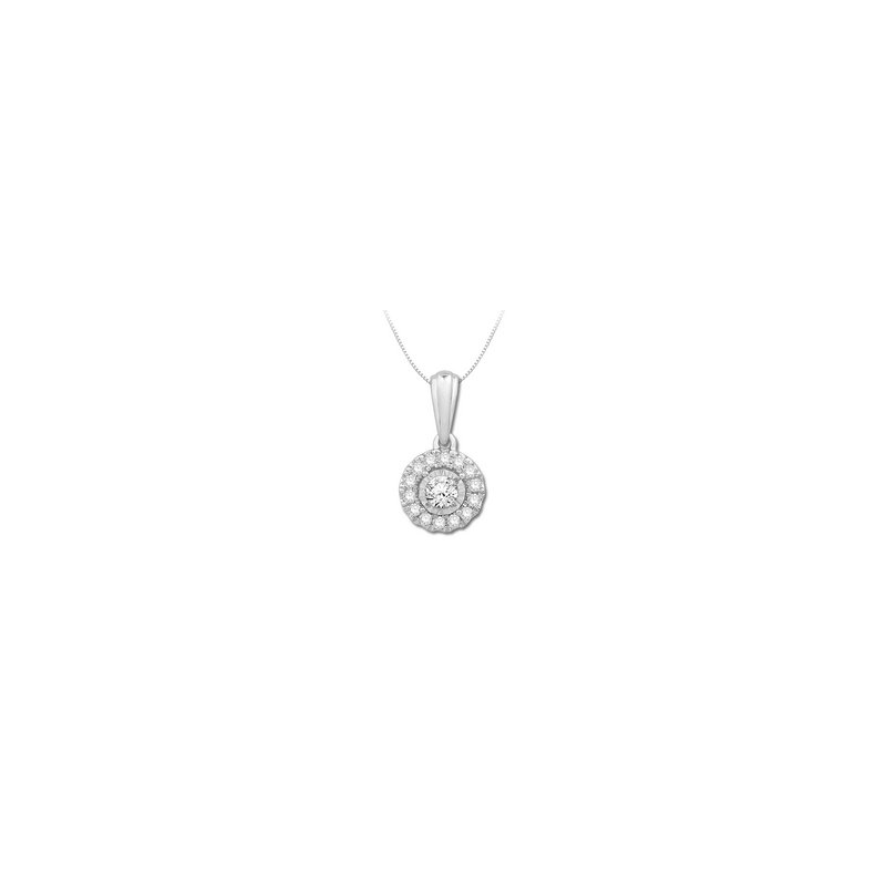 """Mesmerizing  Cluster Pendant With Round Diamonds, On An 18"""" Chain"""
