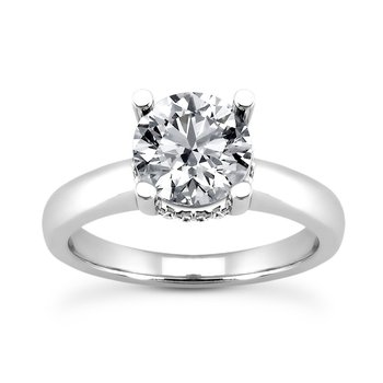 Engagement ring Mounting with diamonds around head