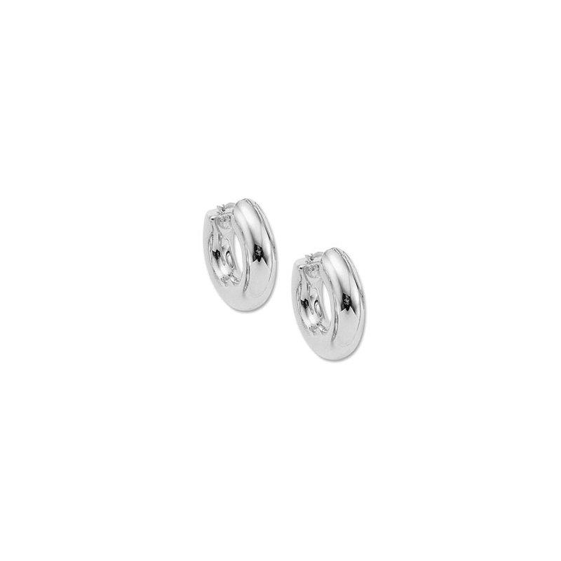 Sterling Silver Donut Hoop Earrings