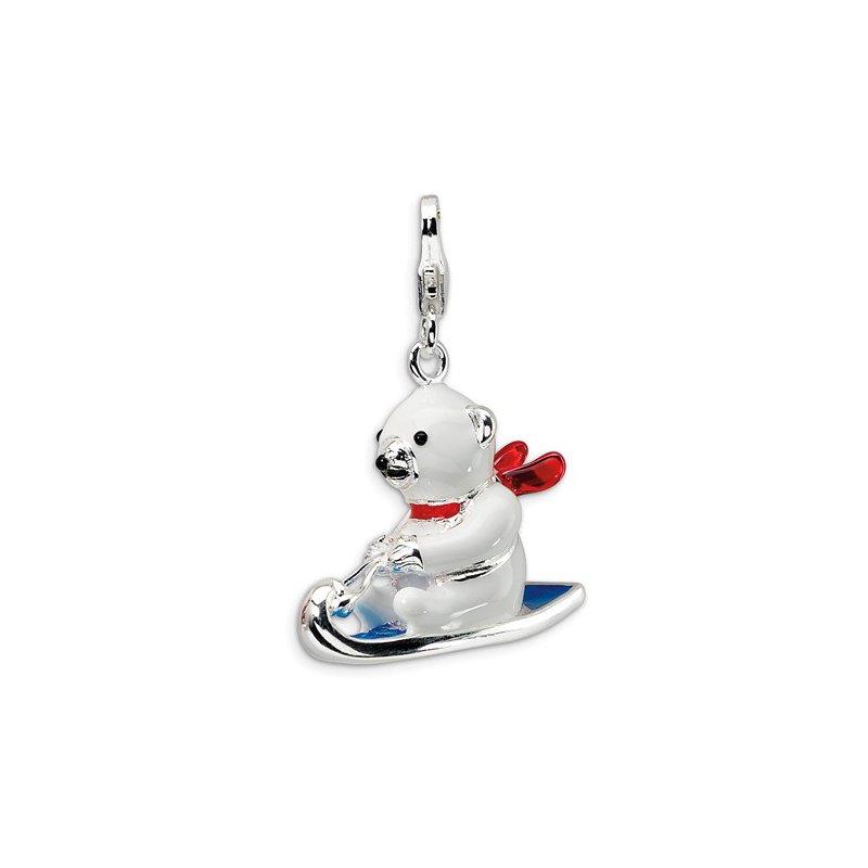 Sterling Silver Polar Bear Charm