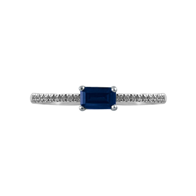 Petite Sapphire and Diamond Ring - Perfect for stacking!
