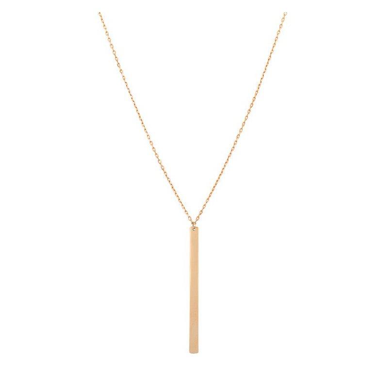 Rosé Gold Stick Pendant