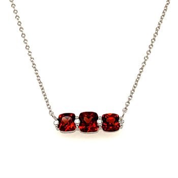 14 Kt Gold Pendant with Trio of Garnet