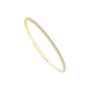 Yellow Gold Diamond Flex Bracelet