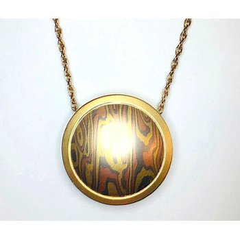 "Satin Finish ""Mokume Gane"" Pendant"