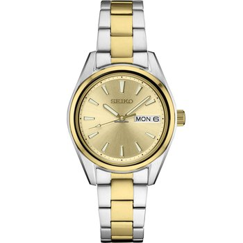 White And Yellow Stainless Steel Quartz Watch