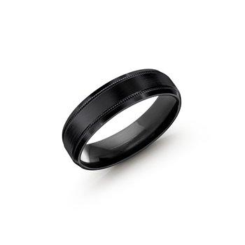 Gents Cobalt Ring, 6mm Black Cobalt