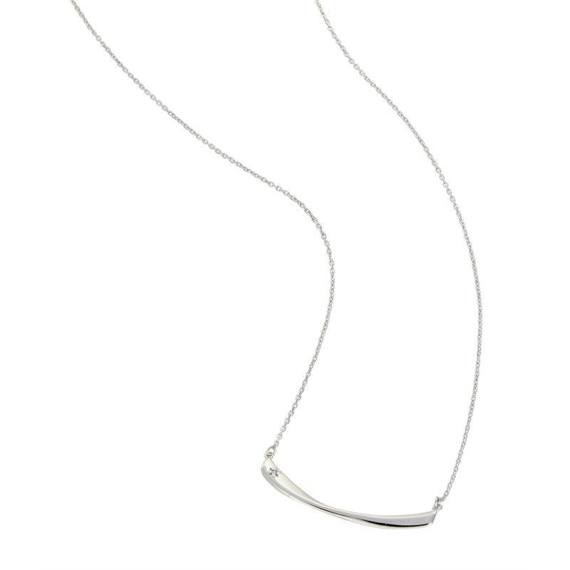 Sterling Silver Twisted Bar Pendant