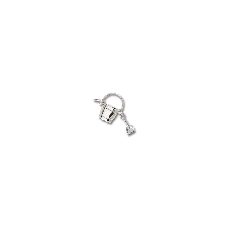 Sterling Silver Pail And Shovel Charm