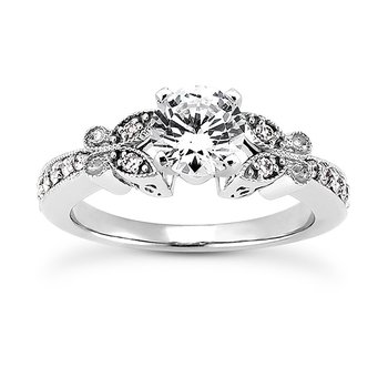 White 14 Karat Ring With 14 Round Diamonds=0.17Tw G/H Si