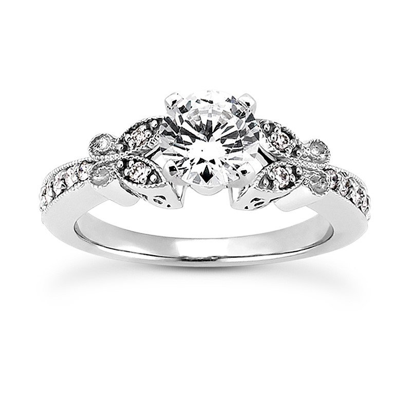 White 14 Karat Ring With 14 Round Diamonds=0.17Tw G/H Si