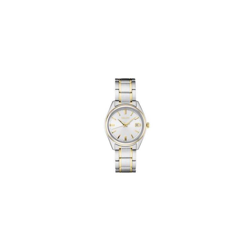 White and Yellow Stainless Steel Seiko Quartz Watch