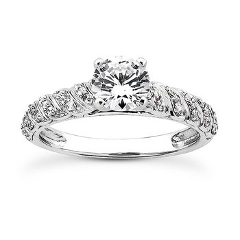 Swirling Diamond Set Engagement Ring Mounting