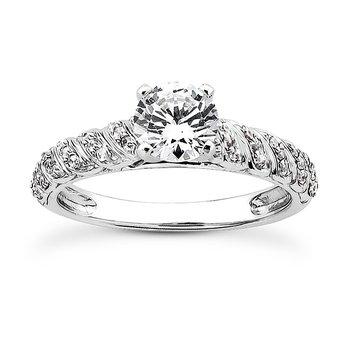 Swirling Diamond Set Engagement Ring Mounting