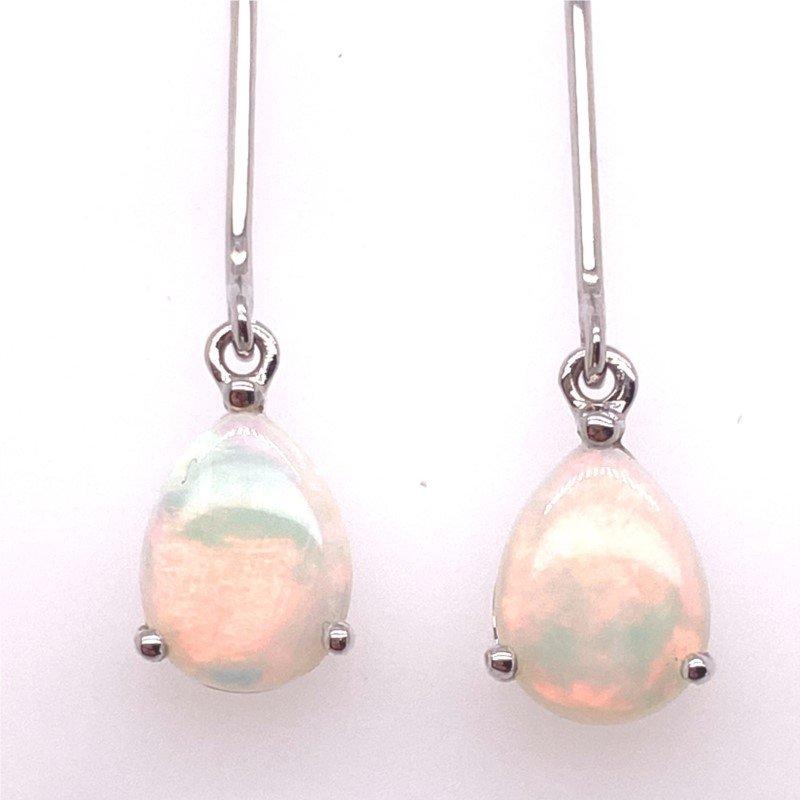 Fiery Opal Earrings