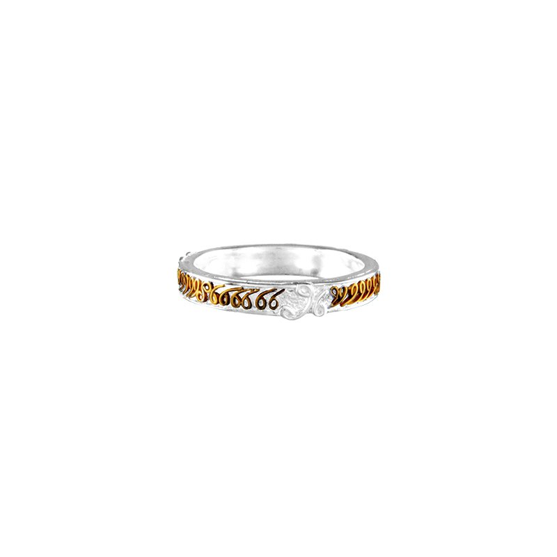 White And Yellow Sterling Silver & Vermeil Ring