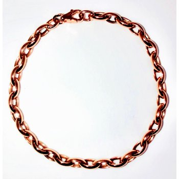Rose Gold Polished Small Link Bracelet