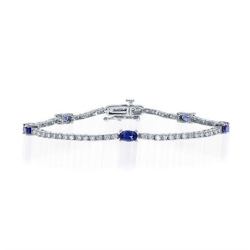 Dashing Sapphire and Btrilliant Diamond Bracelet