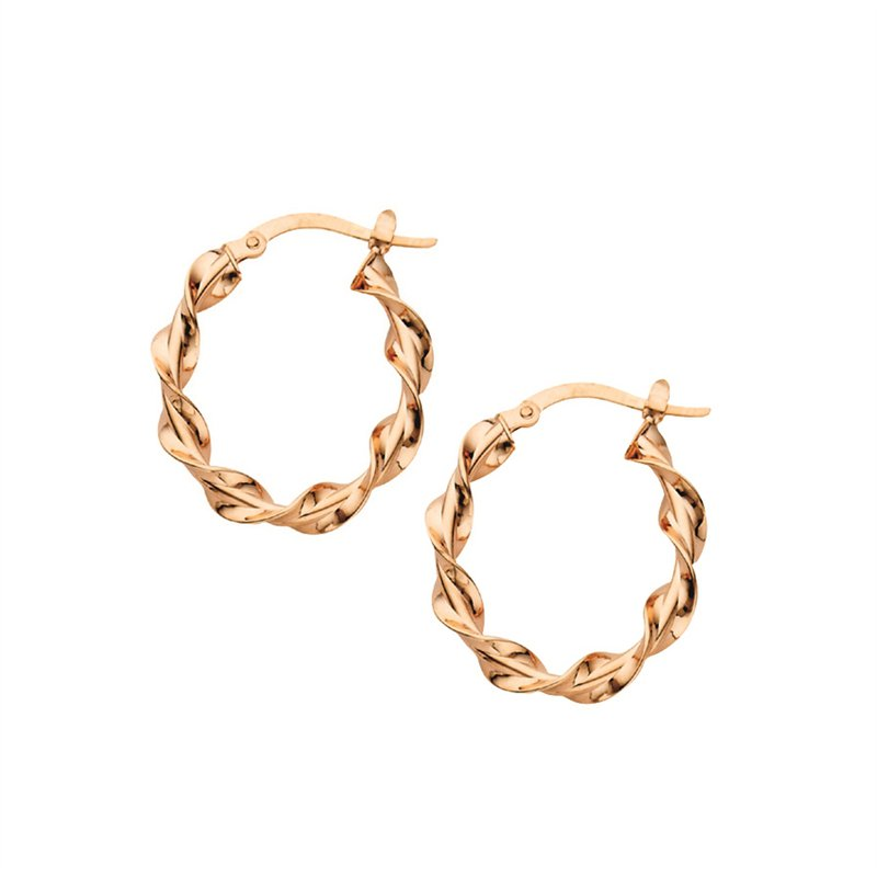 Rose Gold Twist Hoops