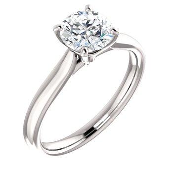 White 14 Karat Ring