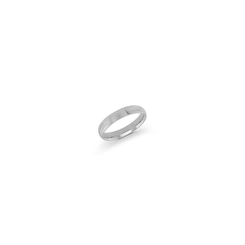 White 14 Karat 4Mm Band Size 6