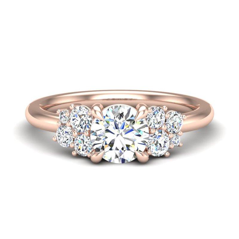 14 Karat Round Diamond Ring Mounting