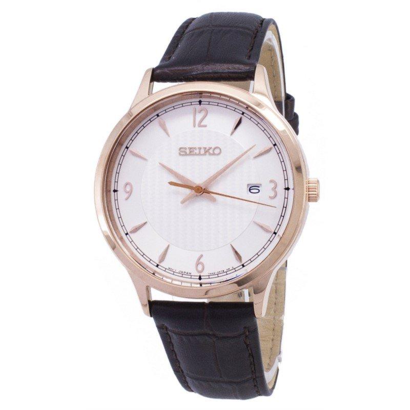 Stainless Steel Gold Tone Seiko Quartz Watch