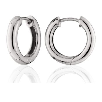Sterling Silver 30mm Huggie Earrings