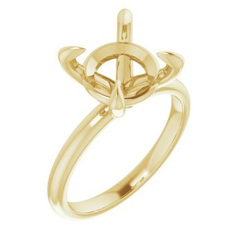 Yellow 14 Karat Solitire 4 prong Ring
