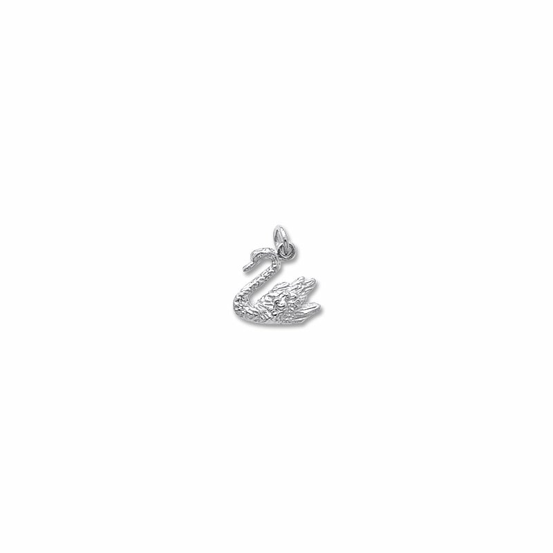 Sterling Silver Swan Charm