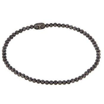 Black Sterling Silver Diamond Cut Bead Bracelet