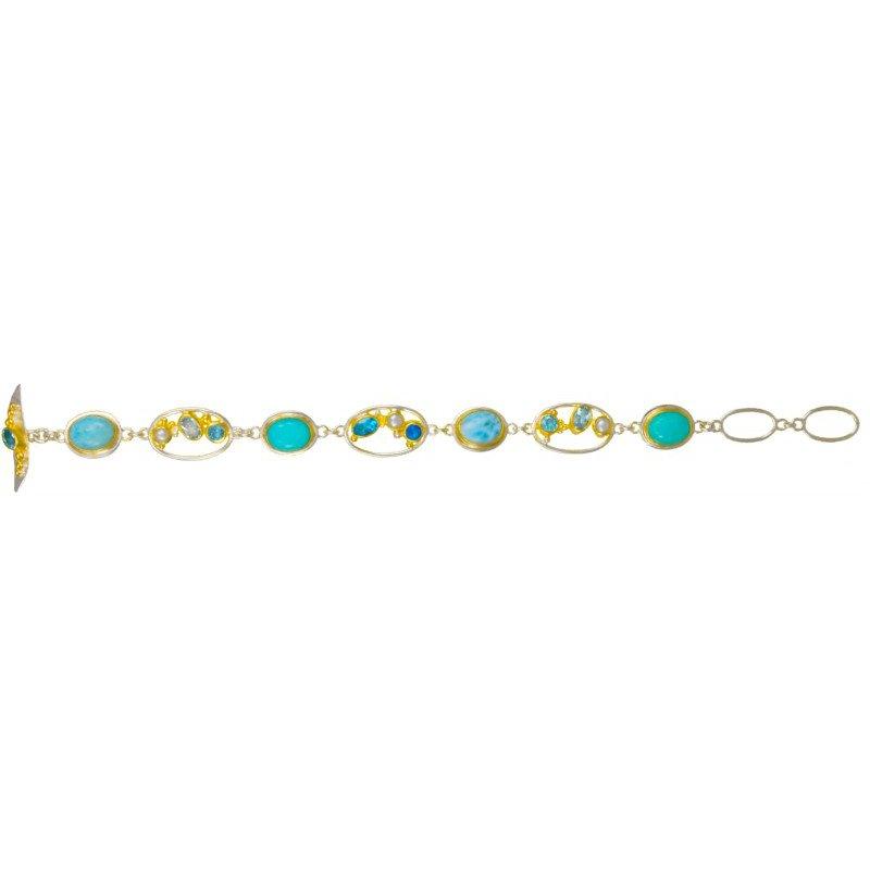 Shimmering Blue Gemstone Bracelet