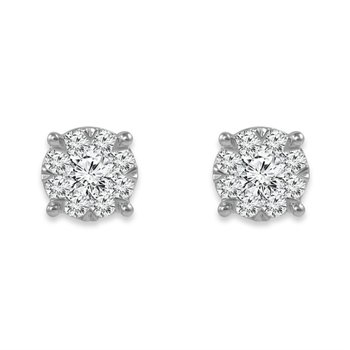 """Harmony Collection"" Diamond Stud Earrings"