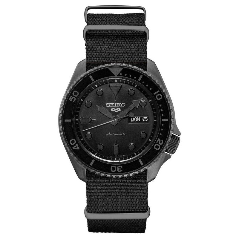 Black Stainless Steel Seiko Automatic Watch