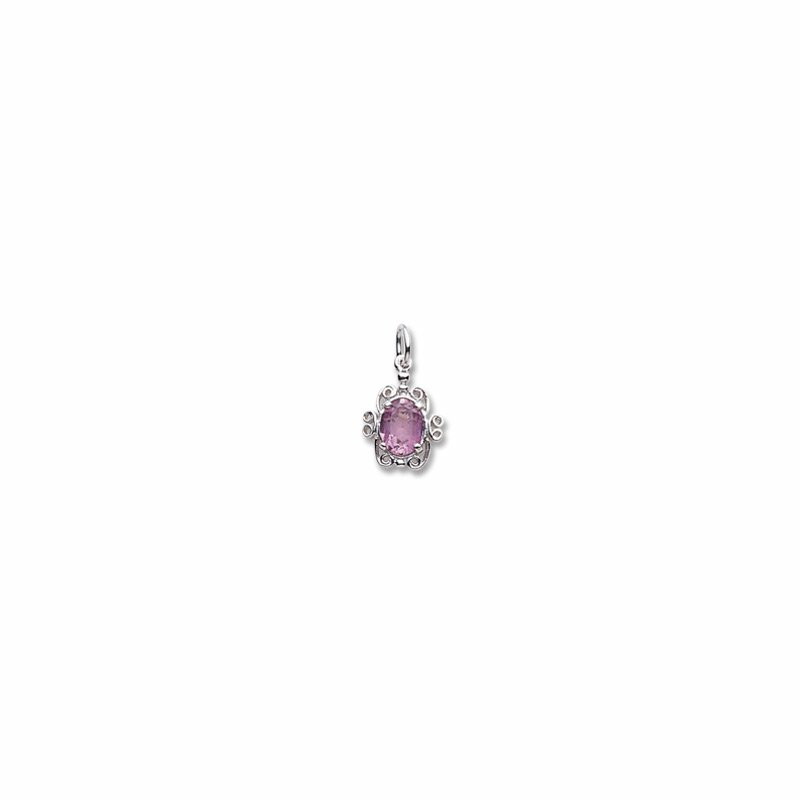 Sterling Silver October Birthstone Charm