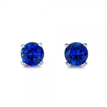 Exquisite Deep Blue Sapphire Earrings