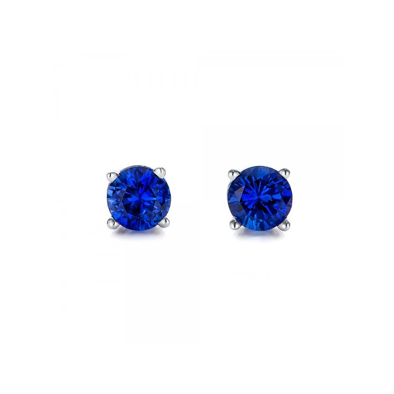 Exquisite Deep Blue Sapphire Earrings