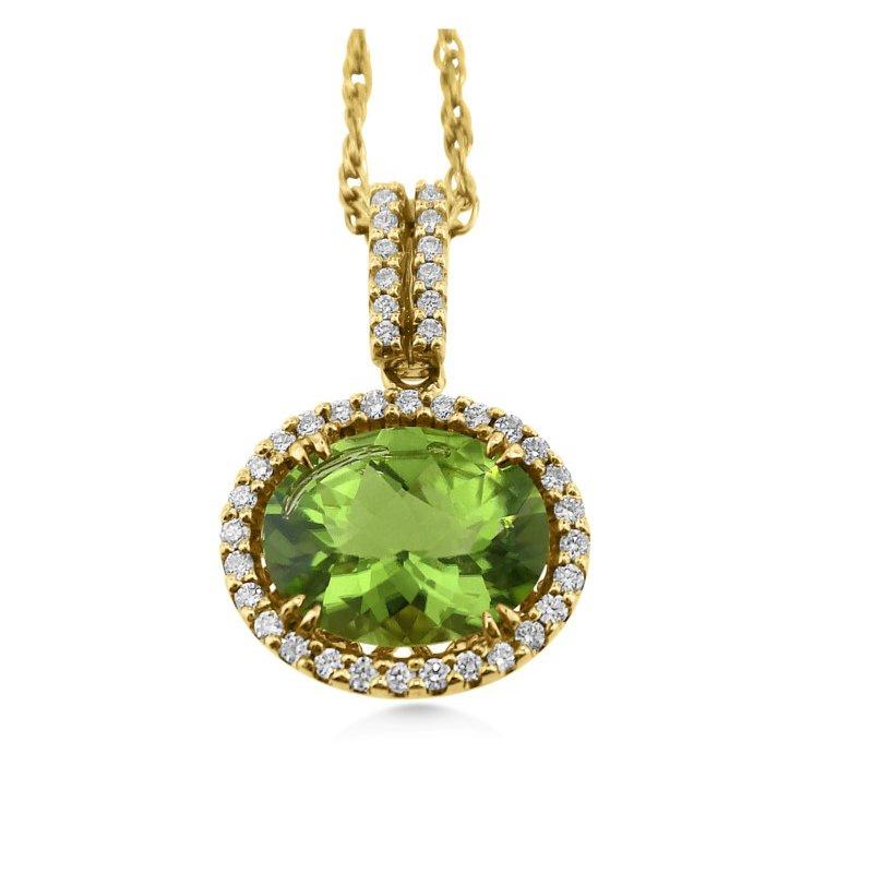 18 Kt Spring Green Peridot Pendant