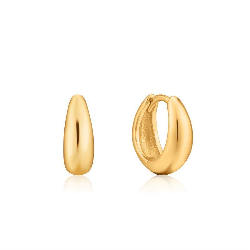 Yellow Sterling Silver Luxe Huggie Hoop Earrings