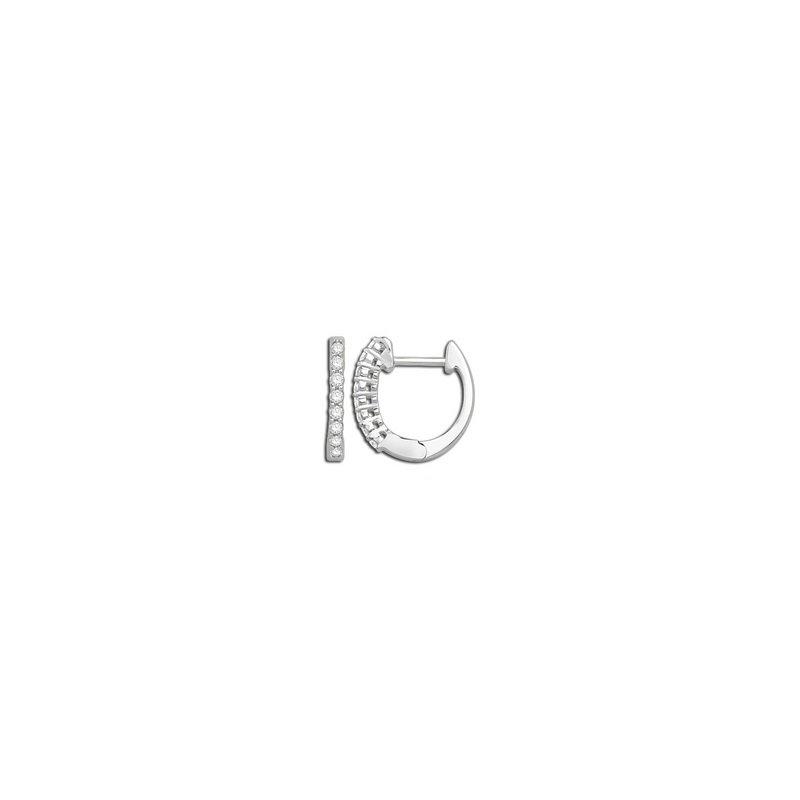 Prong Set Diamond Hinged Hoop Earrings