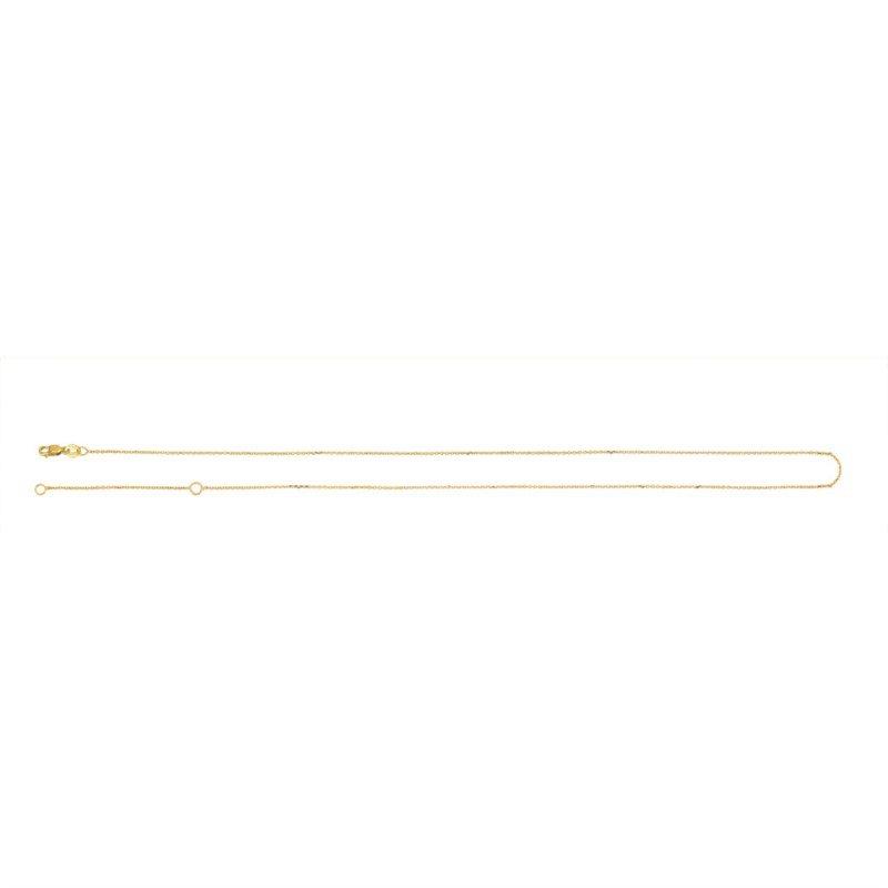 "Yellow Diamond Cut 14 Karat Bevelled Cable Necklace Length 20"""
