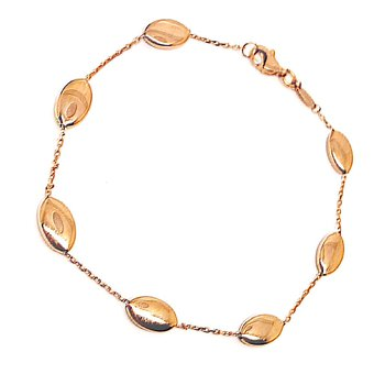 Soft Rose Gold Oval Station Bracelet