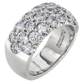 Eye catching White Gold Band With 3 Rows of Diamonds 1 carat tw