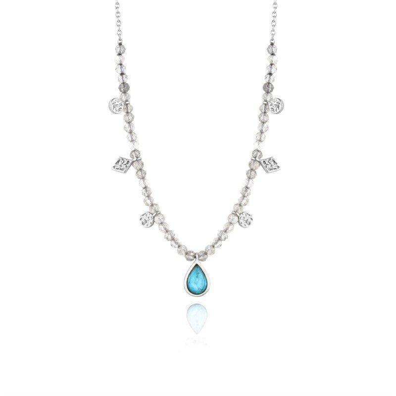 Turquoise Labradorite Sterling Silver Pendant