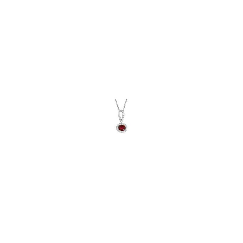 Elaborate Ruby and Diamond Pendant