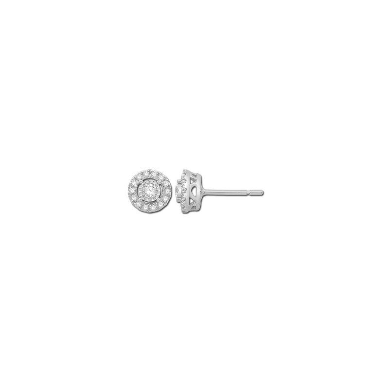 14 Karat .25 carat total Diamond Earrings