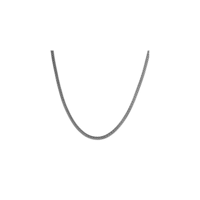 3 1/2 m.m. Sterling Silver Mesh Necklace