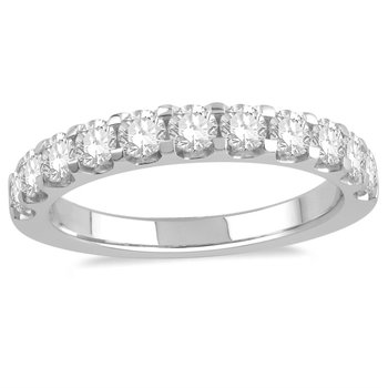 14 Karat White Gold Diamond Band
