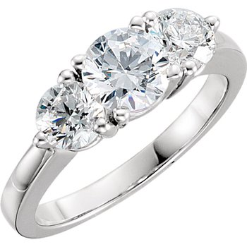 Elegant Platinum 3-Diamond Wedding Band